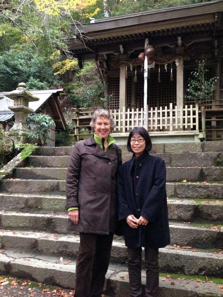 Gail and Yoshiko in Kyoto 2017